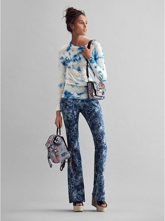 e12fc62045 MICHAEL KORS Peace Studded Tie-Dye Merino Wool Pullover, Sloan Editor Bag  and Peace Jeans ~ Today's Fashion Outfit #Michael Kors #Kors #OOTD