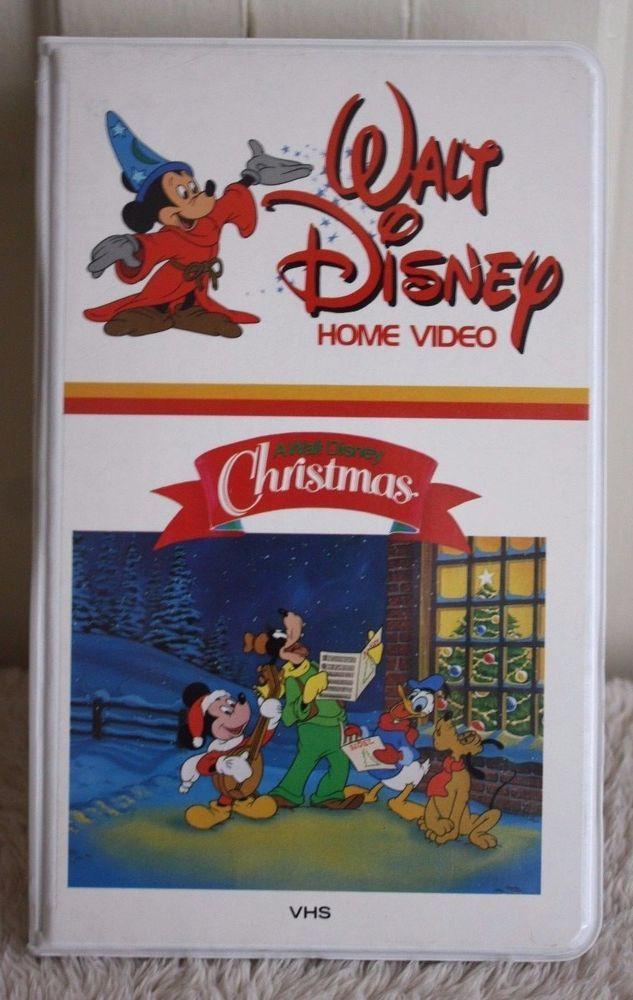 Vintage A Walt Disney Christmas Vhs Home Video White