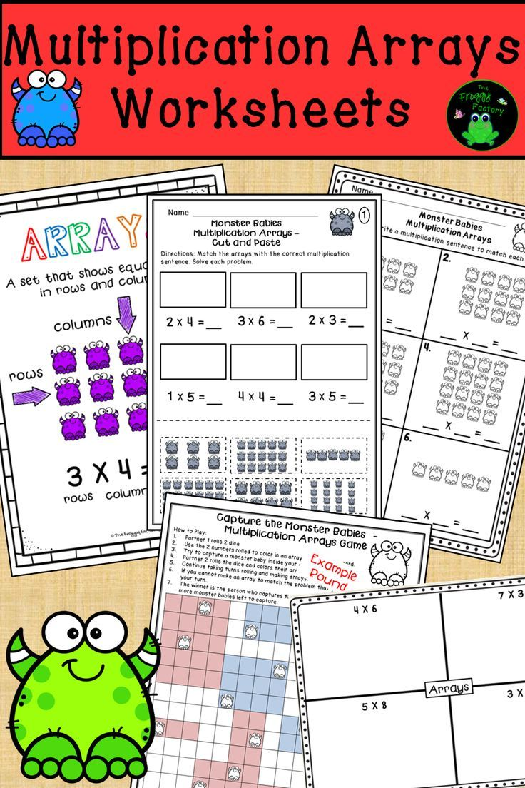 Multiplication Arrays Worksheets Multiplication Worksheets Distance Learning Guided Math Groups Array Worksheets Math Stations [ 1104 x 736 Pixel ]