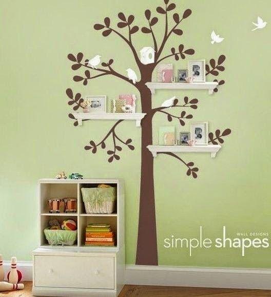 Repisas con forma de árbol para habitaciones ~ cositasconmesh