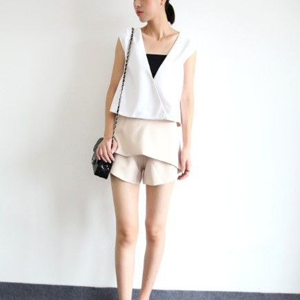 Pippa White Crossover Vest Top $55.00 http://www.helloparry.com/collections/july-arrivals/products/pippa-white-crossover-vest-top