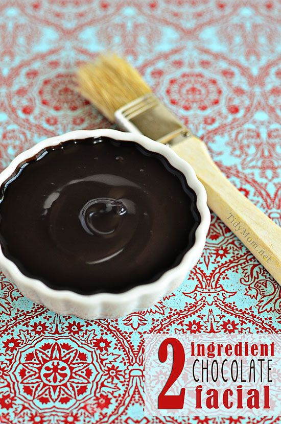 Indulgent 2 Ingredient Homemade Chocolate Facial recipe at TidyMom.net