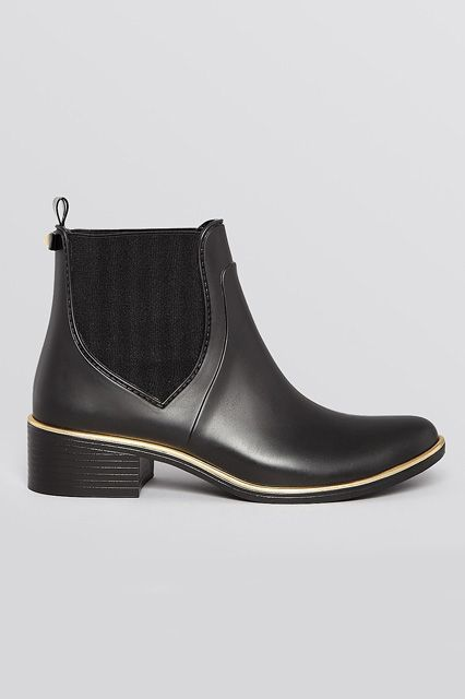 No need for a change of shoes: These sleek, rubber Chelsea boots will survive your rainy commute and a full day at the office.