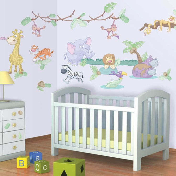 Walltastic Baby Jungle Safari Room Decor Kit  - http://www.godecorating.co.uk/walltastic-baby-jungle-safari-room-decor-kit/
