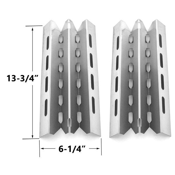 2 PACK STAINLESS STEEL HEAT PLATE REPLACEMENT FOR SELECT BROIL KING, BROIL-MATE, HUNTINGTON AND STERLING GAS GRILL MODELS Fits Compatible BROIL KING Models : 986987 , 9875-84 , 9875-87 , 9877-14 , 9877-17 , 9877-34 , 9877-37 , 9877-44 , 9877-47 , 9877-54 , 9877-57 , 9877-74 , 9877-77 , 9877-84 , 9877-87 , 987734 , 987737 , 987744 , 987747 , 987754 , 987757 , 987774 , 987777 , 987784 , 987787 , 9878-14 , 9878-17 , 9878-34 , 9878-37 , 9878-44 , 9878-47 , 9879-44 , 9879-47 , 987944 , 987947…