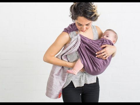 Tummy to Tummy (Legs In) In Ring Sling | SAKURA BLOOM - YouTube
