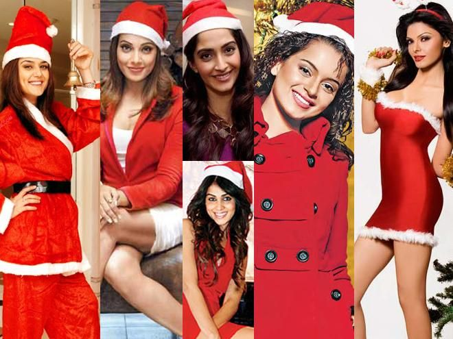 See your favorite Bollywood Diva as Santa!!