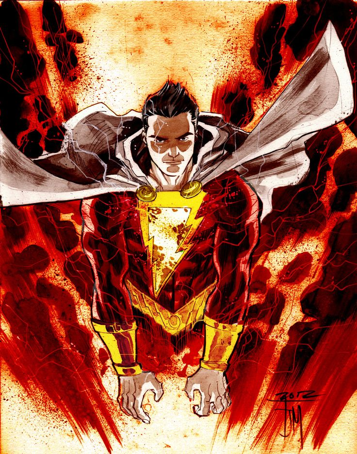 """more-like-a-justice-league: """" SHAZAM! Pencils by Francis Manapul Colors by Me """""""