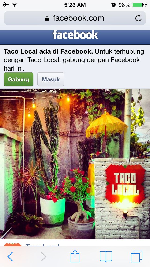 Seminyak - Taco Local makes it onto the list for locational reasons.