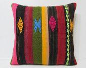kilim pillow cover 24x24 big pillow cover 24x24 kilim pillow 60x60 euro pillow sham large cushion cover red striped kilim pillow sham 17707