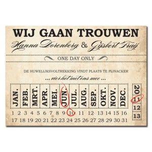 Trouwkaart: Ticket