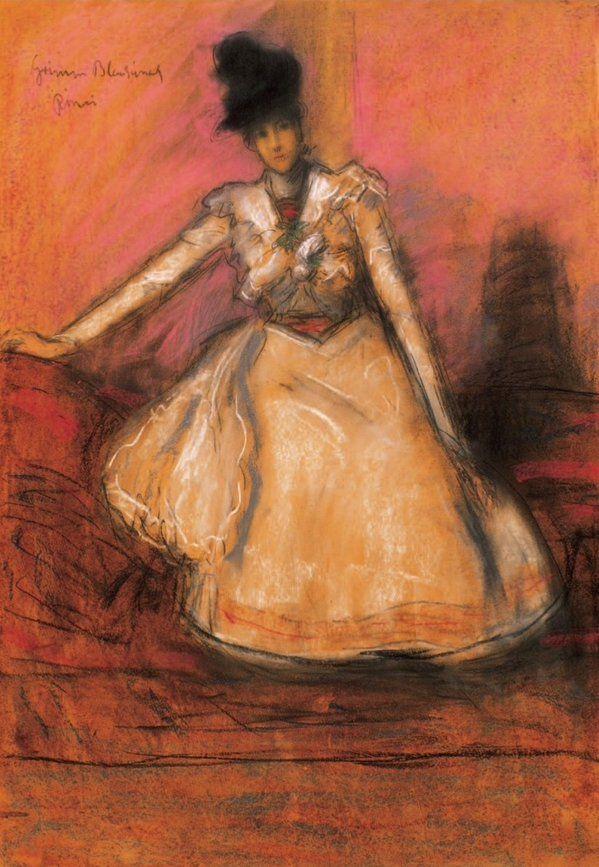 """Ballerina"" ,- Jozsef Rippl-Ronai"