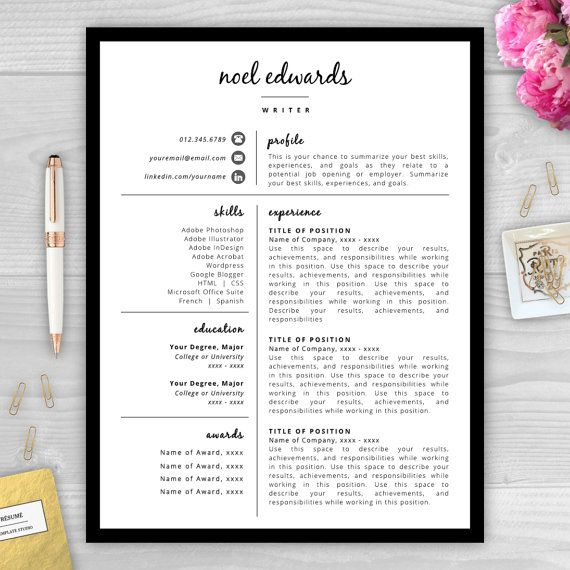 10 best Professional Resume Templates images on Pinterest Cover - resume templates for indesign