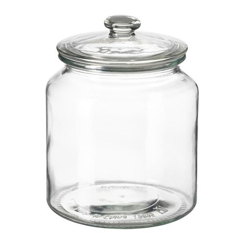 VARDAGEN Jar with lid IKEA The transparent jar makes it easy to find what you are looking for, regardless of where it is placed.