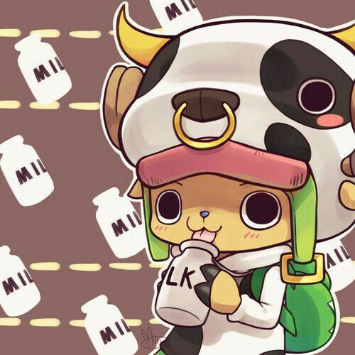 Tony Tony Chopper, Cute, Milk, Text, Cow Outfit; One Piece