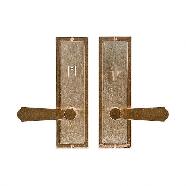 Rocky mountain hardware e117 e116 3 x 10 escutcheons - Interior door privacy mortise lock ...