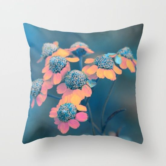 Softly flowers(2) Throw Pillow by Mary Berg | Society6  #pillows #society6 #nature #flowers #maryberg #homedesign  #throwpillows #sofa #salon #decorative  #textile #colorful #navy #christmas  #blue #flower  #gift