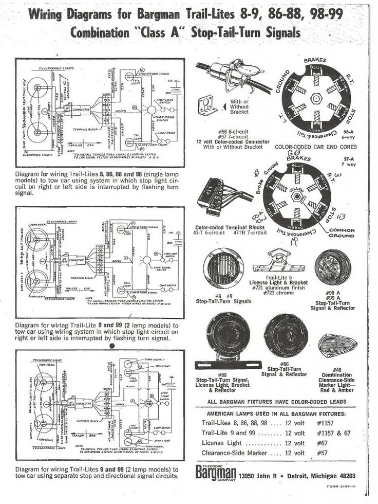 bargman wiring diagram 7 way   28 wiring diagram images