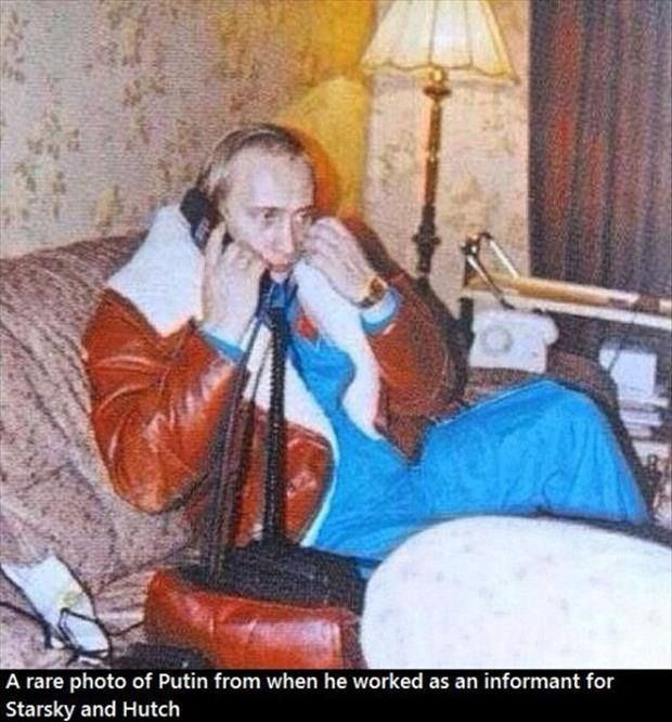 Vladimir Putin as an informant for Starsky and Hutch.