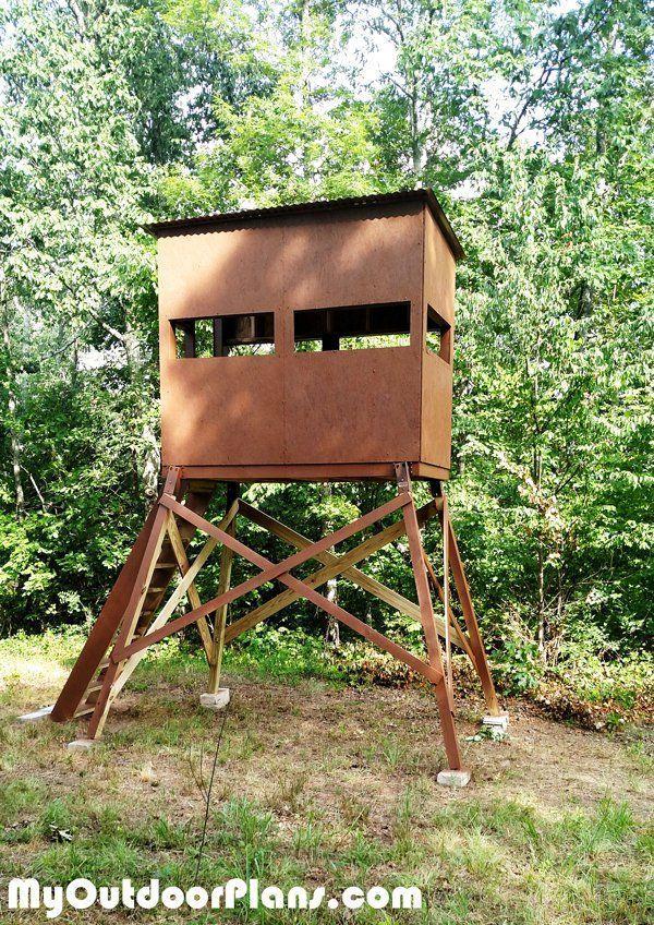 9 Free DIY Deer Stand Plans: DIY Deer Shooting Blind from My Outdoor Plans