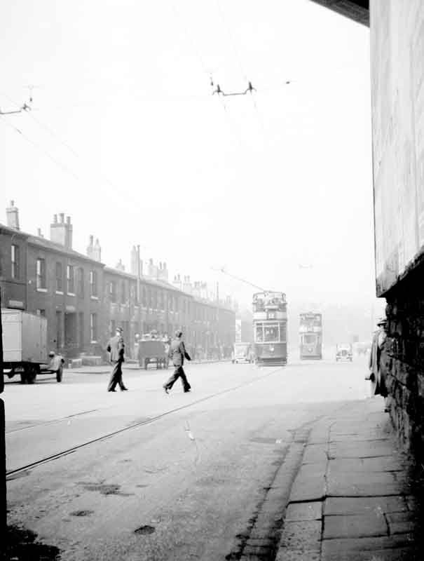 Trams on Bradford Road, Huddersfield