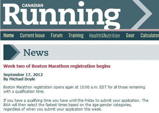 Boston Marathon registration is here!