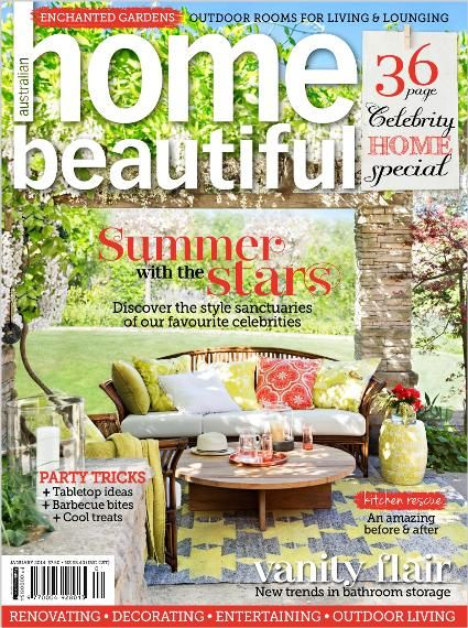 Home Beautiful January 2014. Clipped from Home Beautiful using Netpage.