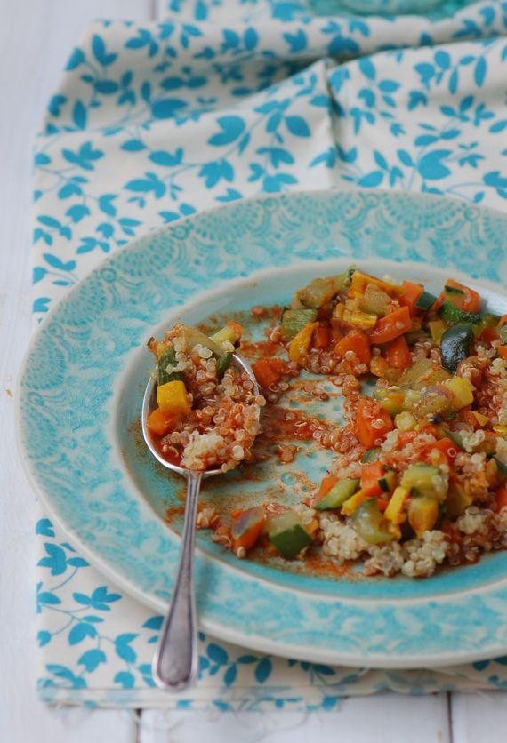 Madame Gateau: Quinoa aux légumes, sauce orange et paprika