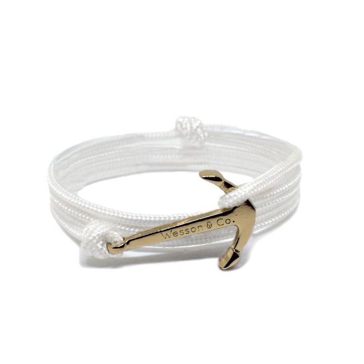 Anchor Bracelet   White Rope