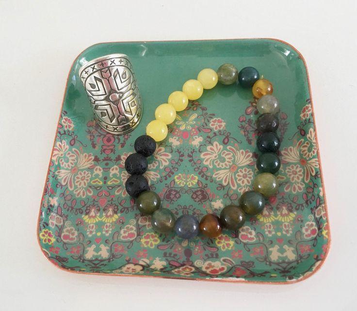 ☾❂☽ Trinket Dish Turquoise Garden ☾❂☽ www.thirteenblessings.bigcartel.com
