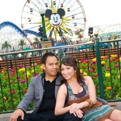 Disneyland engagement photos at Disney Resort, Anaheim, CA. We had a lot of fun around the park, too bad the Tea Cups were closed.