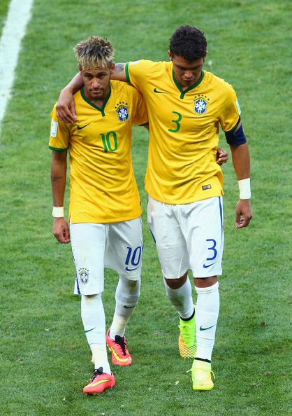 Thiago Silva and Neymar Photos - Brazil v Colombia: Quarter Final - 2014 FIFA World Cup Brazil - Zimbio