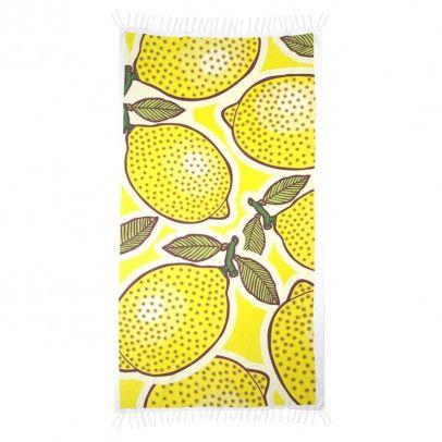 Sarong-Skirt Fringed Cotton Lemon - 100x190 cm Yellow  By Johanne