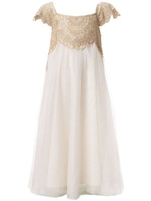 OOOOMMMMGGGGG!!! THIS is IT for flower girls  Kaya!!!!!!!! Im dying!! Ivory Estella Gold Sparkle Dress