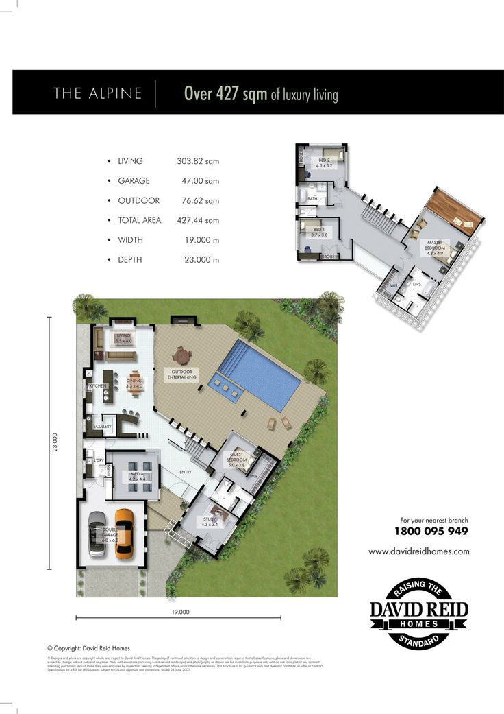 Alpine Floor Plan  Concept Range. David Reid Homes Australia, Luxury Custom Home  Builder
