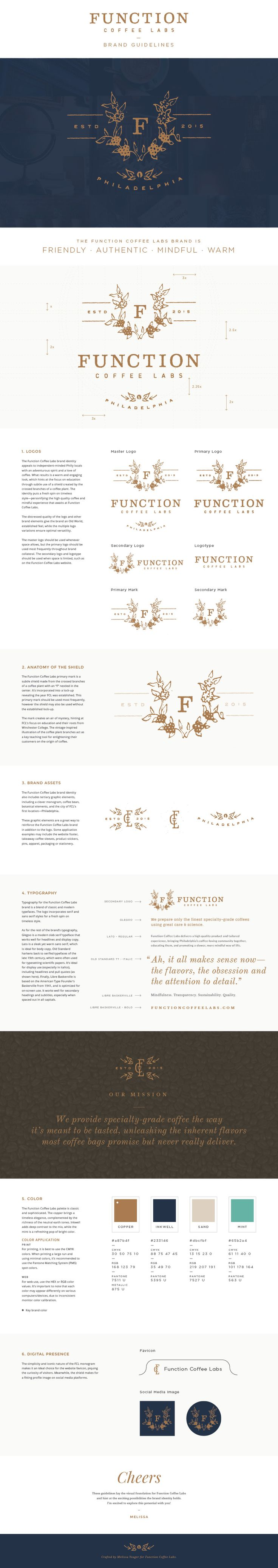 Function Coffee Labs - logo design & brand guidelines - Melissa Yeager