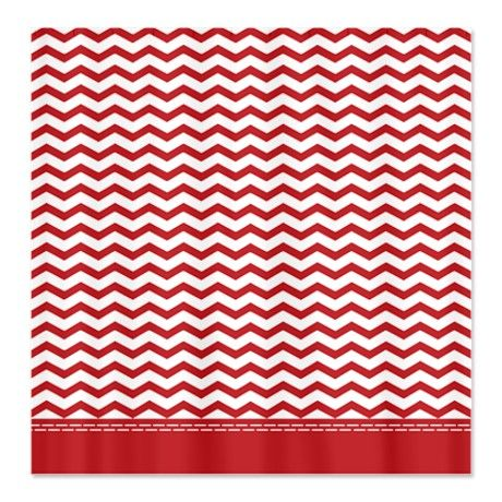 Serena And Lily Curtains Orange Chevron Shower Curtain