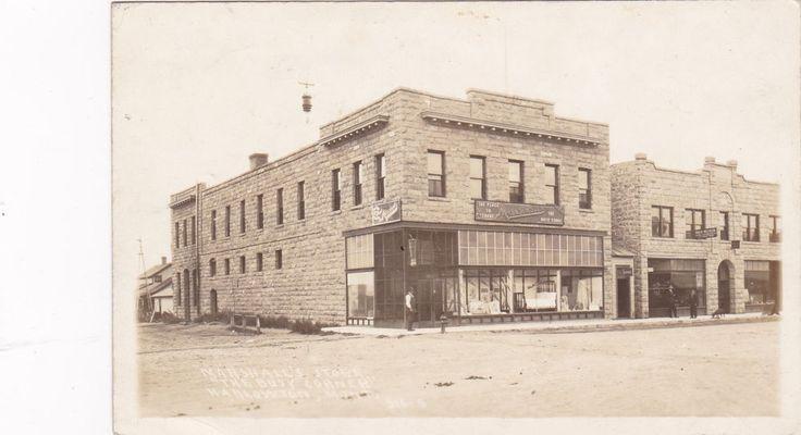 RP: HARLOWTON , Montana , 1908 ; Storefront, Marshall's Store