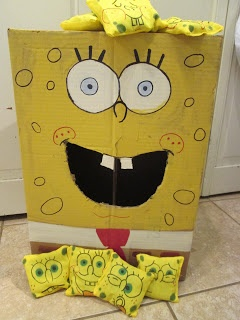 walk in the sunshine: Spongebob birthday party.  Spongebob Squarepants Bean Bag Toss Game
