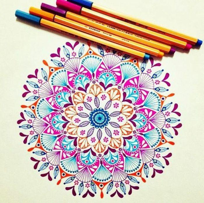 1001 ideas de dibujar mandalas f ciles e interesantes diy mandala art mandala drawing - Mandala facile ...