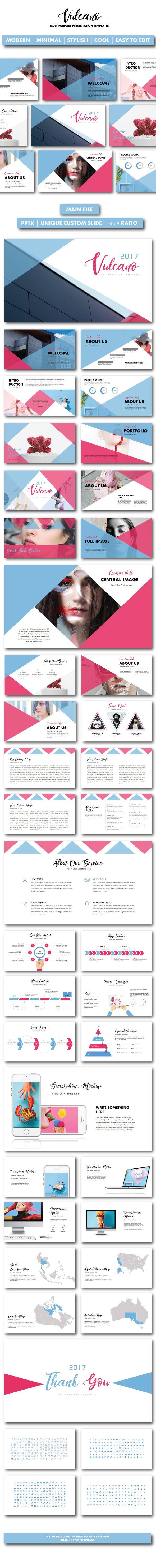 Vulcano Creative Presentation Templates - PowerPoint Templates Presentation Templates