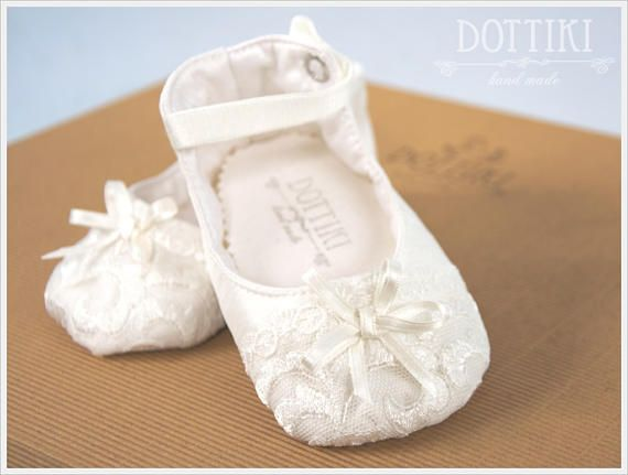 Christening Baby Booties  Mary Janes Silk  Shoes Christening