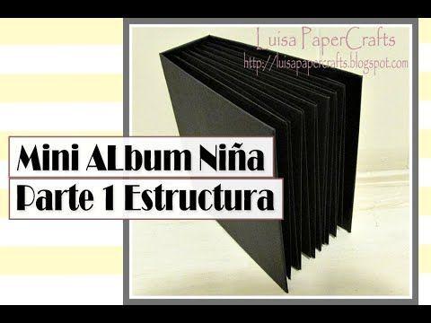 """En el video de hoy vamos a hacer la estructura de un mini álbum con la encuadernación de Kathy Orta """"Hidden Hinge"""". *Video con la explicación del encuadernad..."""