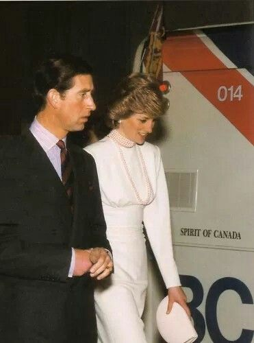 May 06, 1986: Princess Diana and Prince Charles at Patterson Station. Photo dated May 6, 1986.. Royal Tour of Canada. Prince Charles and Princess Diana visited Expo in May of 1986, and rode the brand new SkyTrain from Waterfront to Patterson Station. Check the date!