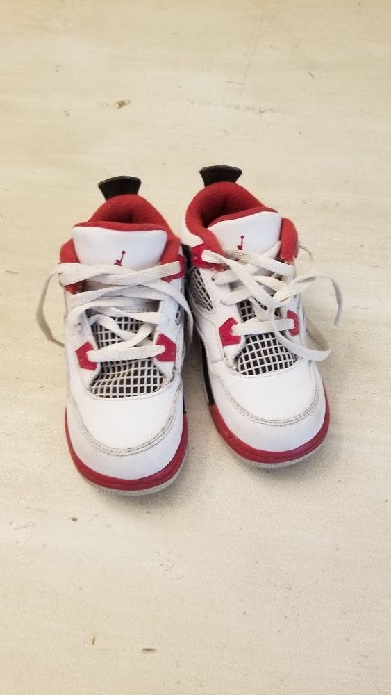91ccbfa0d20a Nike Air Jordan 4 IV Retro Fire Red White Black Baby Toddler Size 8C  308500-110  fashion  clothing  shoes  accessories  babytoddlerclothing   babyshoes (ebay ...