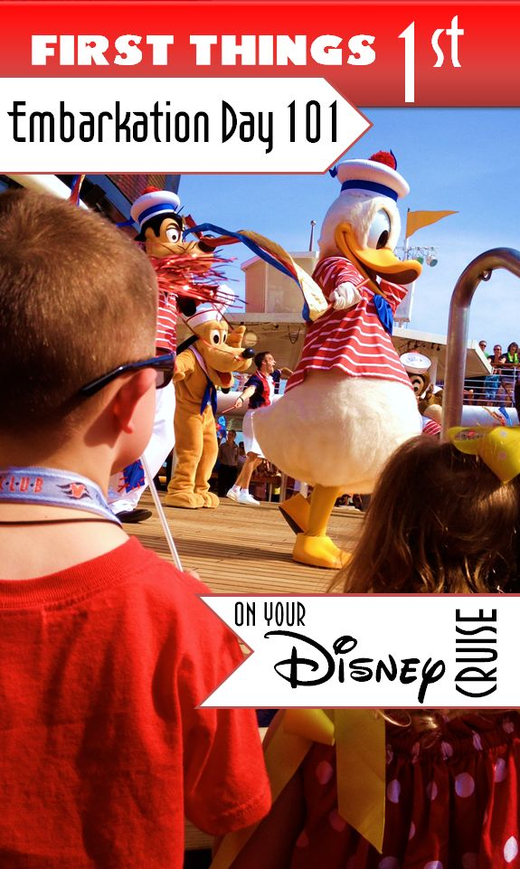 First Things First - Disney Cruise Line - Adventurer Mom
