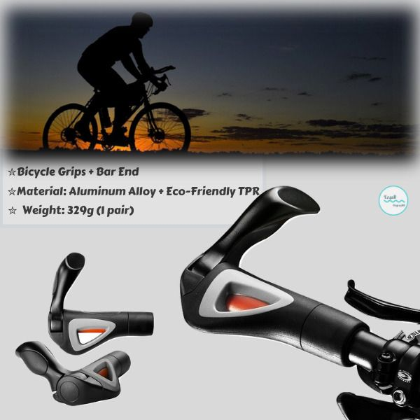 Bicycle Handlebar Grips Lock On Comfort Grip Bar End For Mountain