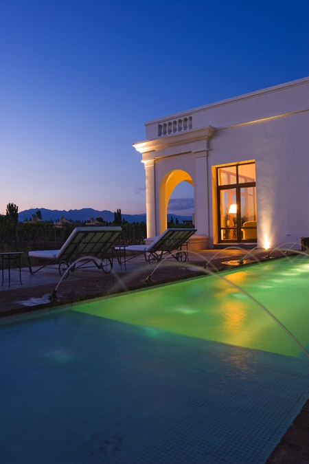 Relais & Chateaux - The Wine Route that runs through Mendoza is one of the most charming in the world, due to the beauty of the landscape and the quality and variety of the vineyards. At the foot of the Andes, in an estate spreading over 14 hectares, Cecilia Diaz Chuit and Martin Rigal have created a splendid hotel, built in a Spanish colonial style and devoted to the joys of wine #relaischateaux #cavaswinelodge #argentina