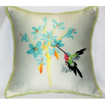 air max id yeezy Blue Hummingbird Art Outdoor Pillow 18in x 18in by Betsy Drake