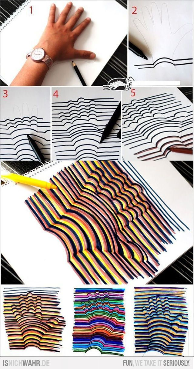 """Ahaha I did this for an art project one time. now I know where my teacher got the idea! Fun activity after reading """"Bad Case of Stripes""""."""